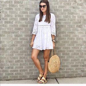 166347fc2bb4 Zara Blogger Jumpsuit Dress Cutout embroidery